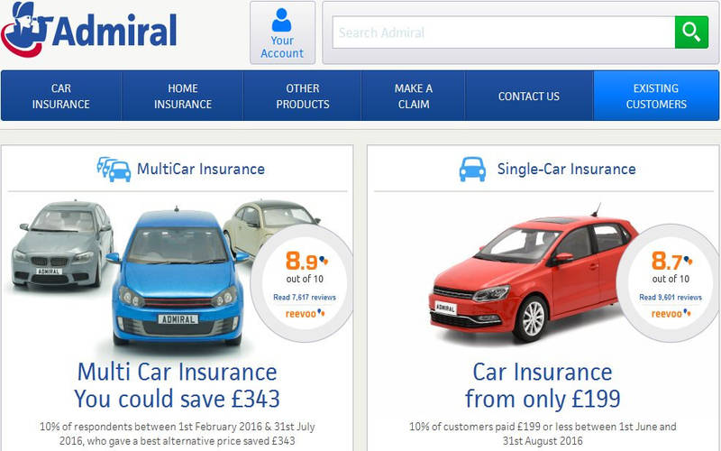 Admiral Insurance Review & Contact Number